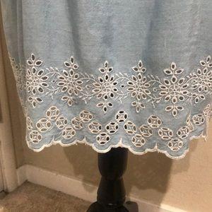 Light Blue cold shoulder dress